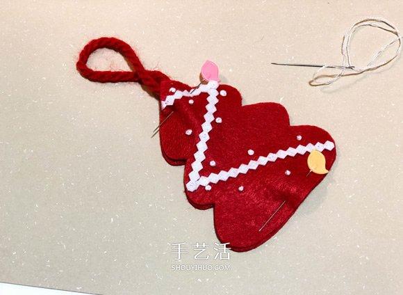 不织布手工制作超可爱圣诞树挂件图解 -  www.shouyihuo.com