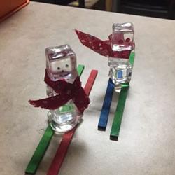 自制圣诞节冰块雪人装饰的制作方法