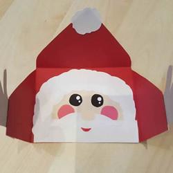 拥抱的圣诞老人贺卡手工制作教程