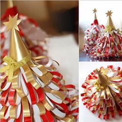 简单又漂亮纸圣诞树的做法图解