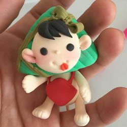 超轻粘土手工制作粽子福娃图解教程