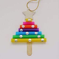 幼儿园手工制作吸管圣诞树的做法