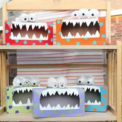 简单自制卡通怪物纸巾盒的方法教程
