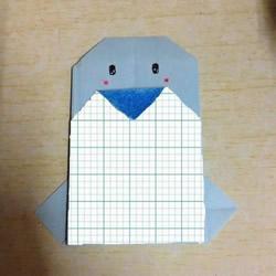 儿童手工折纸企鹅的简单方法图解