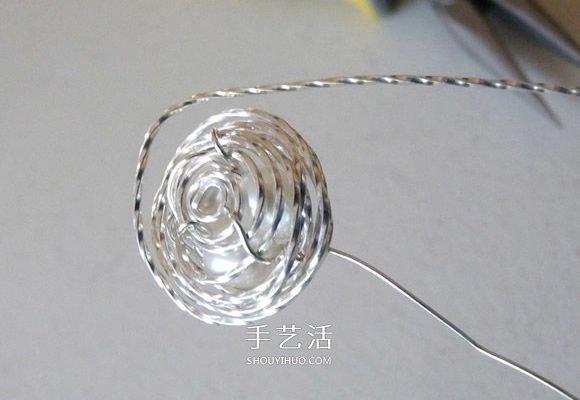 金屬絲手工製作創意鳥巢耳環圖解教程