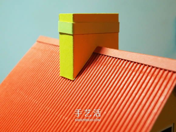 卡纸手工制作圣诞节房屋模型装饰 -  www.shouyihuo.com