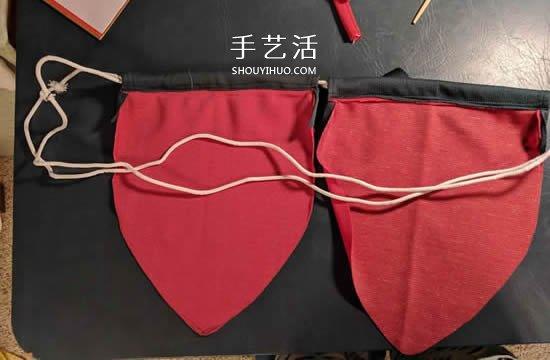 自制草莓束口袋的制作方法图解 -  www.shouyihuo.com