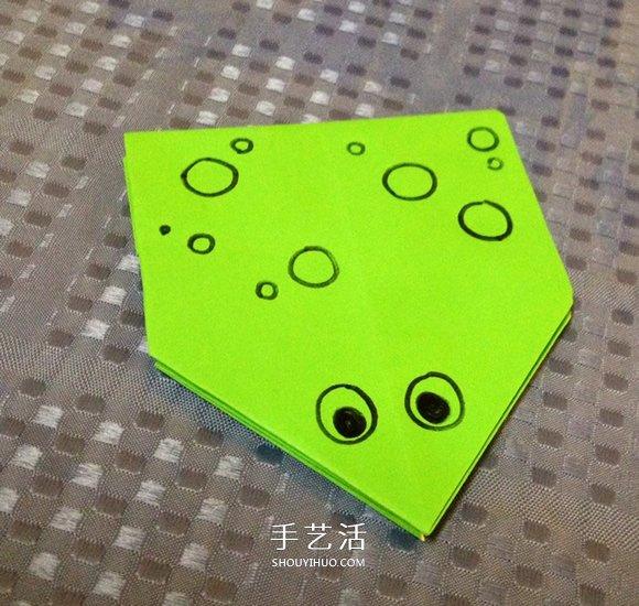 簡單摺紙青蛙的詳細步驟圖解