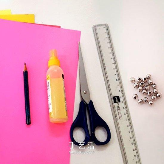 彩紙手工製作美麗的立體雛菊圖解