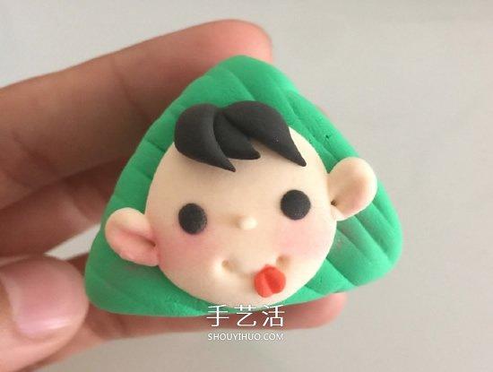 超輕粘土手工製作粽子福娃圖解教程