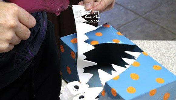 簡單自製卡通怪物紙巾盒的方法教程