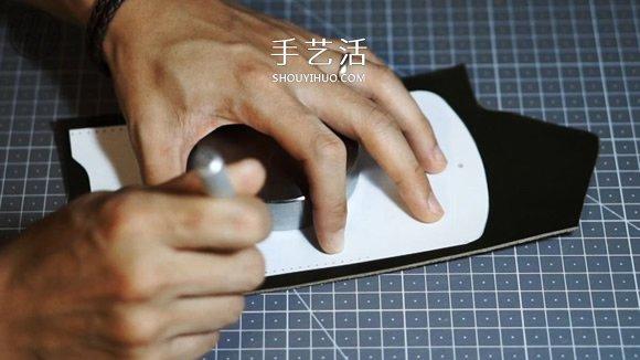 自制简约风格男士皮革名片盒的方法 -  www.shouyihuo.com