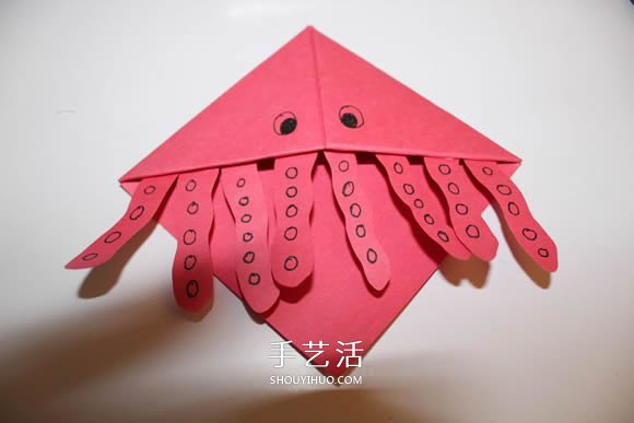 可以插在角落的水母书签的折法图解 -  www.shouyihuo.com