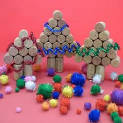 红酒瓶塞手工制作圣诞树的做法图解