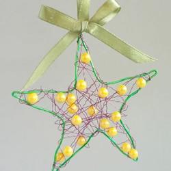 金属丝手工制作圣诞星挂饰的做法图解