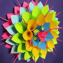 便利贴手工制作立体纸花的做法图解