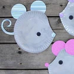 纸盘手工制作小老鼠的简单做法教程