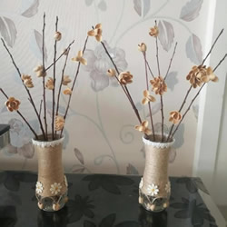 开心果壳手工制作插花装饰品的做法