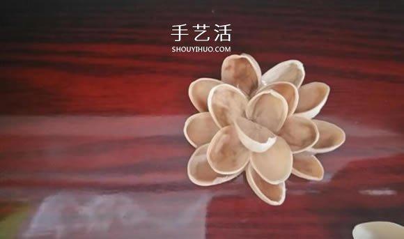 開心果殼手工製作插花裝飾品的做法