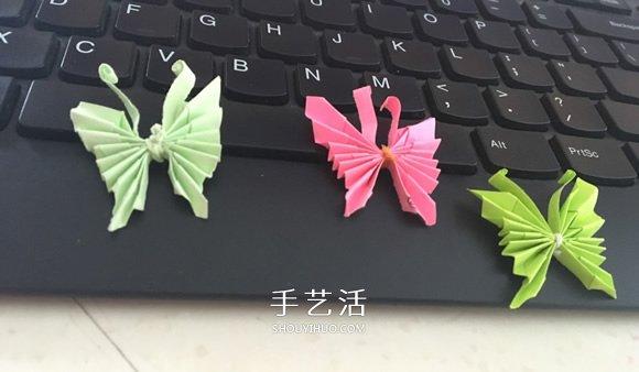 簡單的方法摺紙蝴蝶的圖解教程