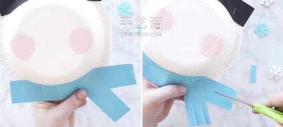 可爱纸盘雪人手工制作教程 -  www.shouyihuo.com
