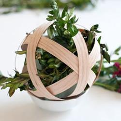 实木贴皮手工制作悬挂插花装饰品的做法