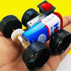 简单自制电动汽车玩具的视频教程