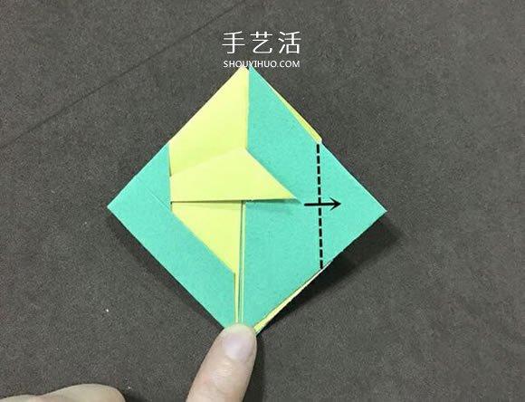 儿童简单折纸小金鱼的折法图解 -  www.shouyihuo.com