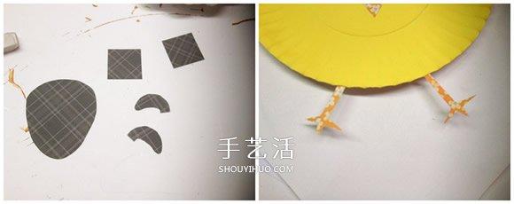 蛋糕纸盘手工制作可爱小动物的做法 -  www.shouyihuo.com