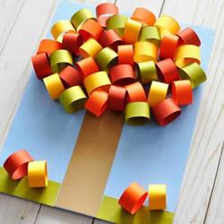 立体的秋天大树手工制作图解教程