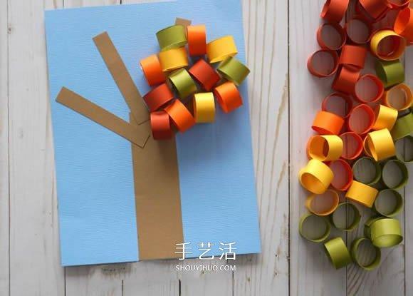 立体的秋天大树手工制作图解教程 -  www.shouyihuo.com