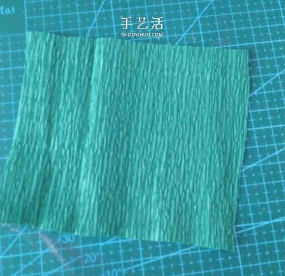 皱纹纸手工制作美丽纸花的做法图解 -  www.shouyihuo.com