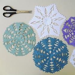 剪纸团花的折法和剪法图解教程