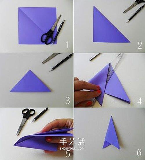 剪纸团花的折法和剪法图解教程 -  www.shouyihuo.com