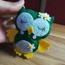 不织布手工制作猫头鹰布偶的做法