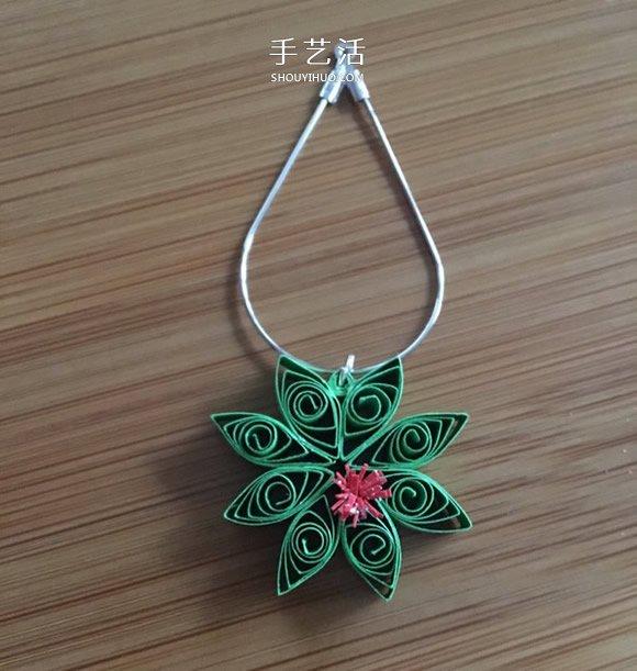 DIY圣诞节衍纸雪花装饰的方法图解 -  www.shouyihuo.com