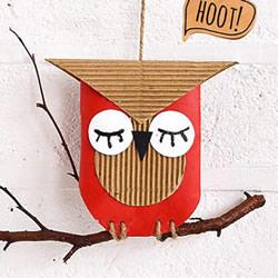 自制万圣节猫头鹰挂饰的方法教程