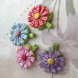 丝带手工制作花朵发饰的做法图解