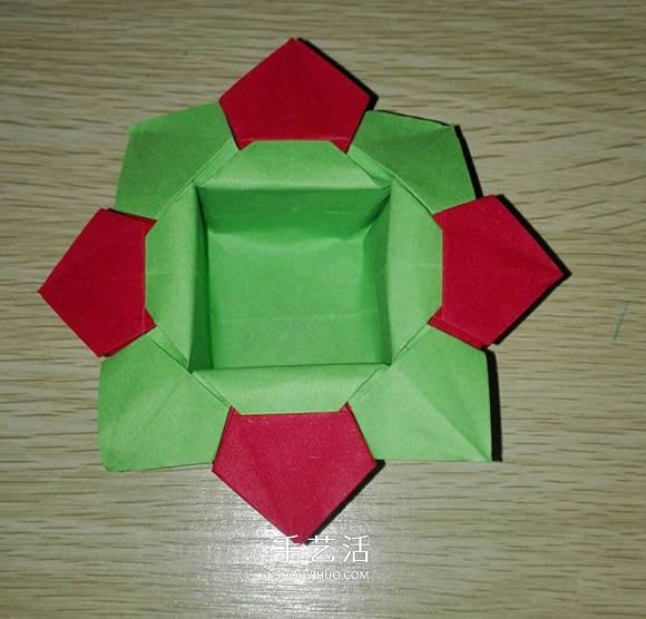 簡單又漂亮紙花籃怎麼折的圖解教程