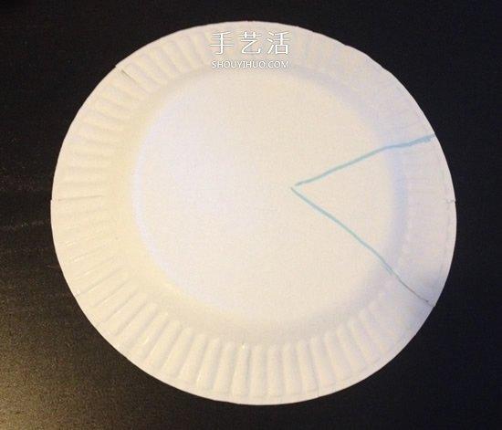 紙盤和蛋糕紙手工製作小魚的做法