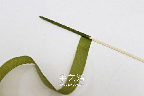 手揉紙手工製作超美鬱金香花的做法