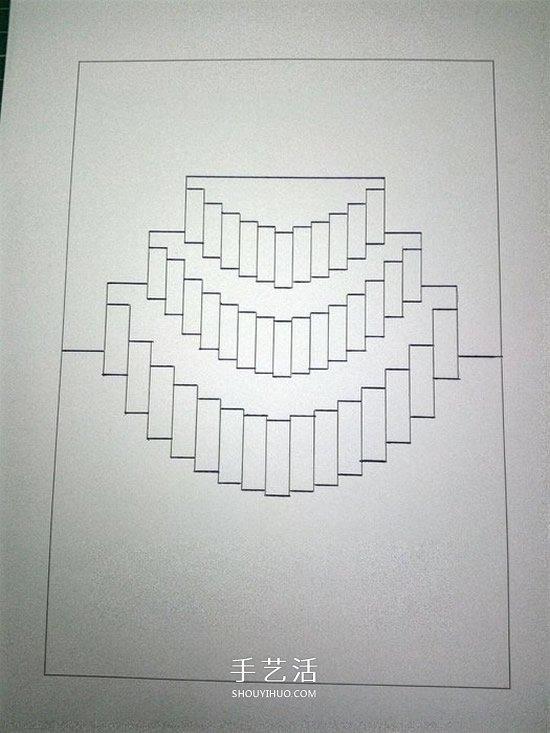 киригами открытка торт схема как сделать ходе
