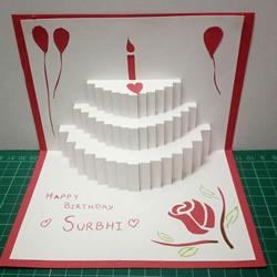自制立体生日蛋糕贺卡的方法教程