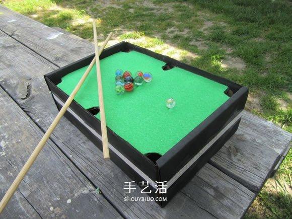 自制迷你桌上台球桌的方法详细教程 -  www.shouyihuo.com