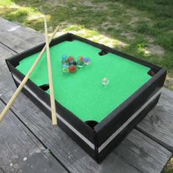 自制迷你桌上台球桌的方法详细教程