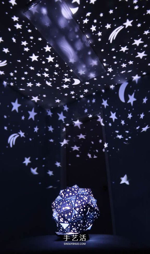 自制二十面体星光投影灯的方法教程 -  www.shouyihuo.com