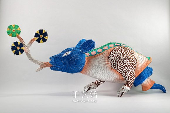 纸做的奇幻生物雕塑 超现实风格皮纳塔作品! -  www.shouyihuo.com