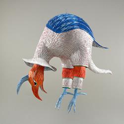 纸做的奇幻生物雕塑 超现实风格皮纳塔作品!
