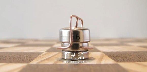 微型磁铁电机DIY 放上铜线就能悬空旋转! -  www.shouyihuo.com