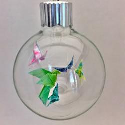 折纸迷你蝴蝶和鸽子 做成精美玻璃装饰品!